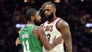 Kyrie Irving says LeBron James is 'definitely' NBA MVP; dubs James Harden 'the people's MVP'