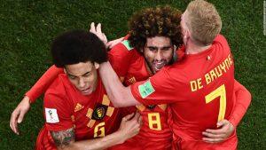 Stunning comeback sees Belgium eliminate Japan