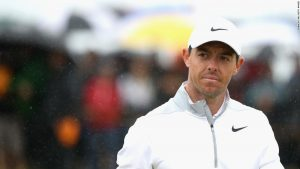 'No moan' McIlroy in contention at rain-sodden Open